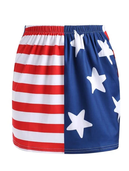 Advanced Flag Short Tight Skirt