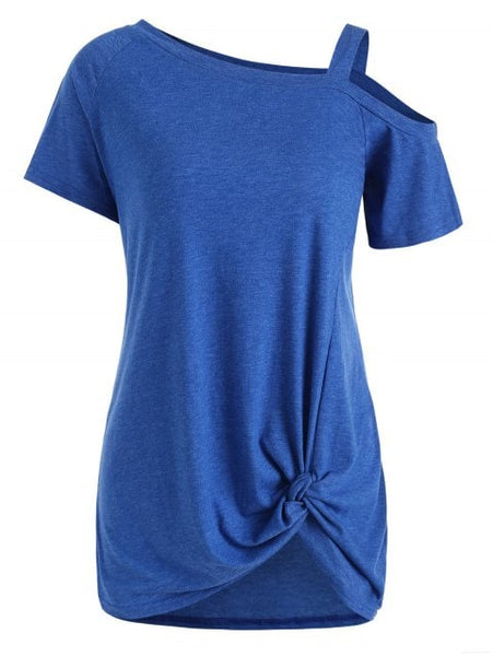 Graceful Cold Shoulder Tunic Tee