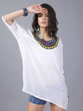 Unique Bohemia Half Sleeve Embroidery Blouse Tops