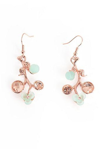 Fashion Glamorous Alloy & Resin Earrings With Shining Rhinestones For Your Party