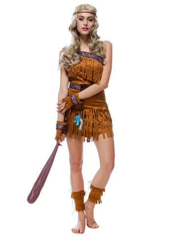 HALLOWEEN COSTUME TASSEL SAVAGE FOREST HUNTER