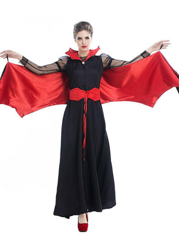 EASTER ADULT FEMALE VAMPIRE DEVIL COSTUME DRESS
