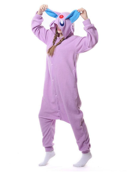 CUTE PURPLE SPIRIT ONESIE PAJAMA ANIMAL COSTUMES