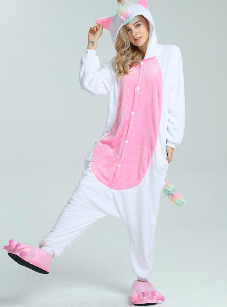GOLDEN HORN UNICORN COSTUME PAJAMAS