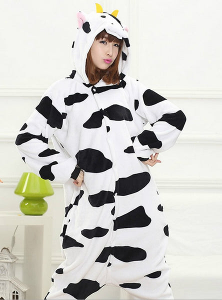 COW COSTUME PAJAMAS SLEEPWEAR ONESIE