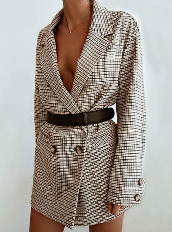 LONG SLEEVE OVERSIZED JACKET OFFICE LADY WRAP BODYCON
