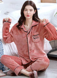 BEAN PASTE COLOR HEART LONG SLEEVE SLEEPWEAR