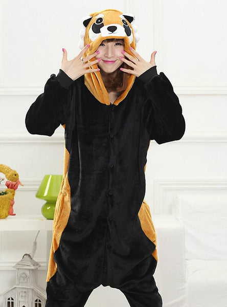 BLACK COON COSTUME PAJAMAS SLEEPWEAR ONESIE