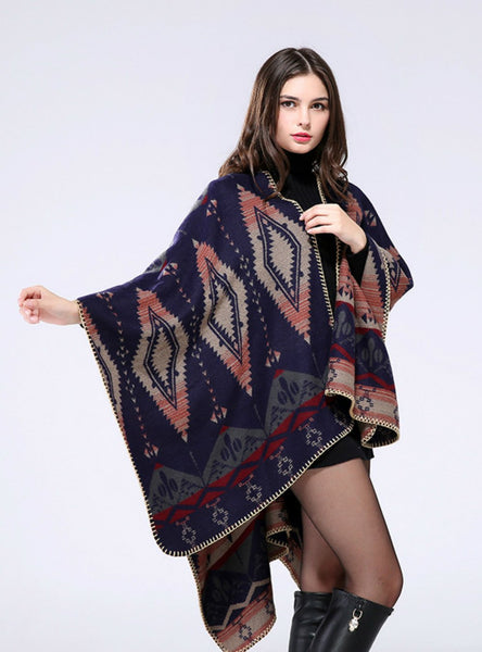 GEOMETRIC DIAMOND CASHMERE SHAWL