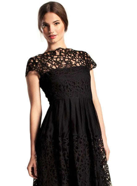 SOLID COLOR LACE RUFFLE LADY ELEGANT FEMALE