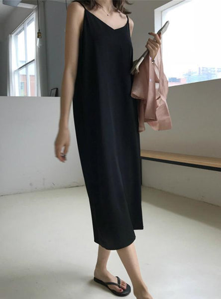 Women Maxi Dress Loose Sleeveless Dresses