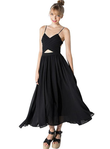 MAXI DRESS SLEEVELESS OFF SHOULDER FEMALE A-LINE DRESS