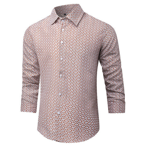 Designer Shirts for Men Casual Printing Slim Fit Fashion