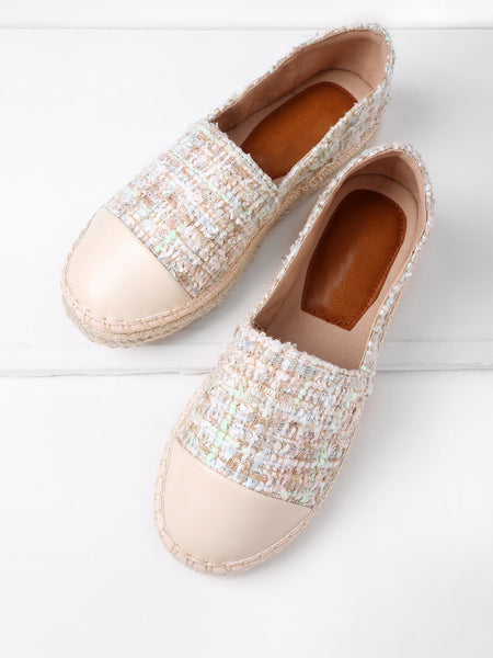 Cheap Round Toe Espadrille Flats