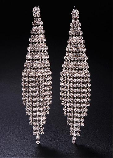 Fashion Micro Pave AAA Zirconia Platinum Plated Chandelier Earrings