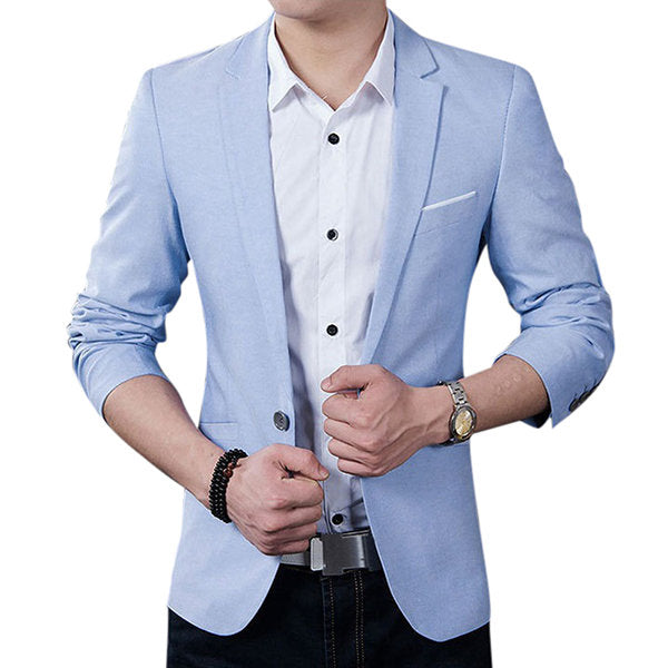 Best Cool Blazers for Men Spring Autumn Fashion Casual Business Slim Fit