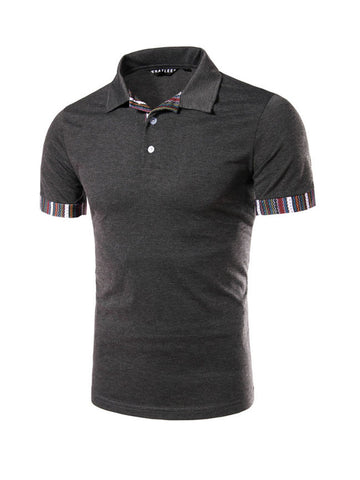 Cheap Mens Polo Collar Short Sleeve T-Shirt