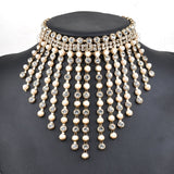 Cheap Rhinestone & Pearl Design Short Necklace