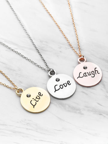Hot Sale Round Pendant Friendship Necklace 3pcs