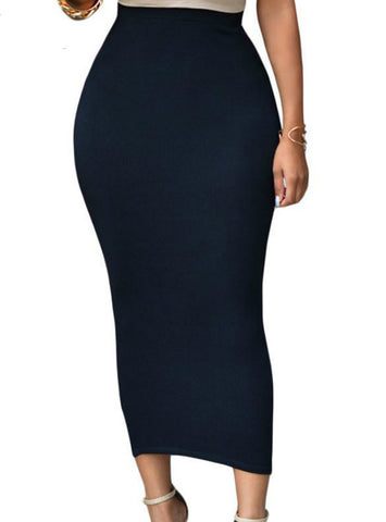 Bodycon Long Skirt Black High Waist Tight Maxi Skirts