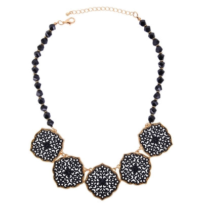 Floral Shaped Hollow Out Necklace Accshine Rhinestone