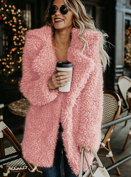Fluffy Long Faux Fur Coat Women Thicken Winter Fake Fur