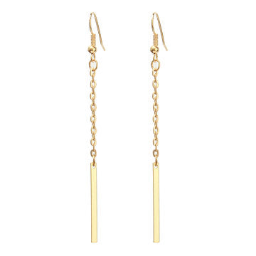 Cheap Gold One Pendant Earrings