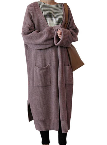 Women Long Cardigan Ladies Long Knit Sweater