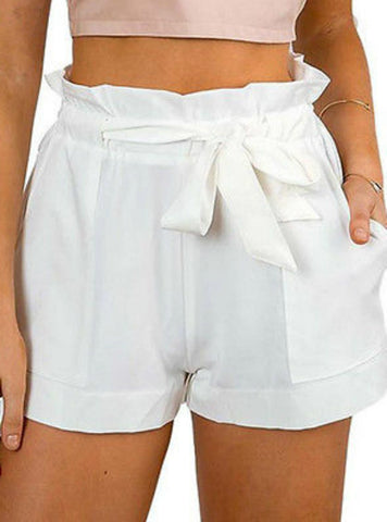 Casual Shorts High Waist Short Beach Bow Shorts