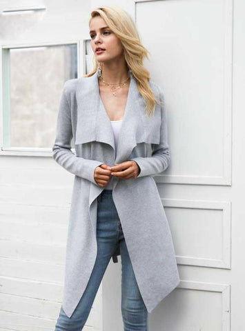 Women Knitted Cardigan Female Coat Soft Sweater