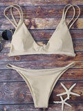 Bralette Bikini Top and String Bottoms