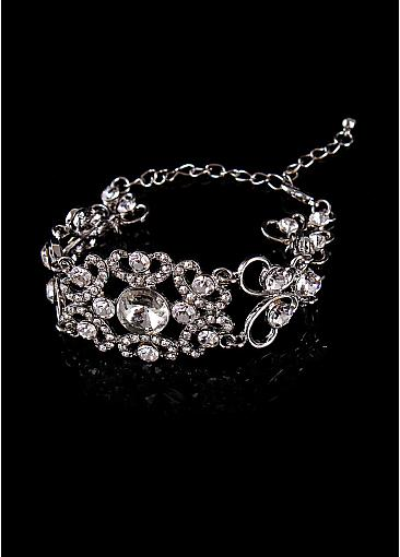 Bracelets With Rhinestones Chic Alloy