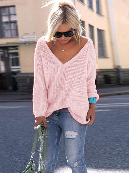 7 Color Long Sleeves Sweater Tops