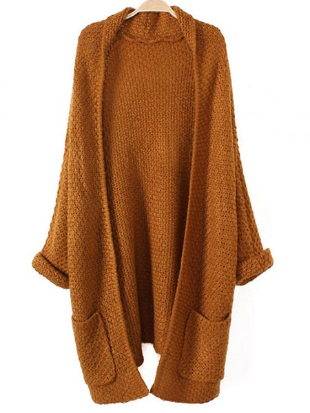Chic Pockets Knitted Long Cardigan