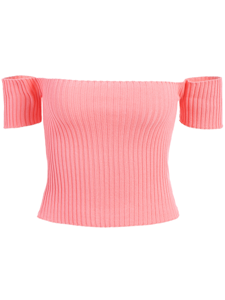 Gorgeous Off The Shoulder Rib Knit Crop Top