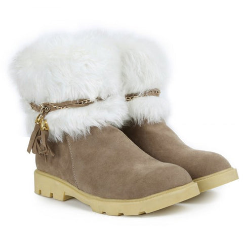 Trendy Tassels Design Women's Snow Boots