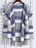 Gorgeous Open Front Jacquard Long Cardigan