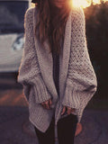 Amazing Solid Color Knit Sweater Cardigans Tops