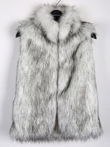 Elegance Collar Vest Faux Fur Coat