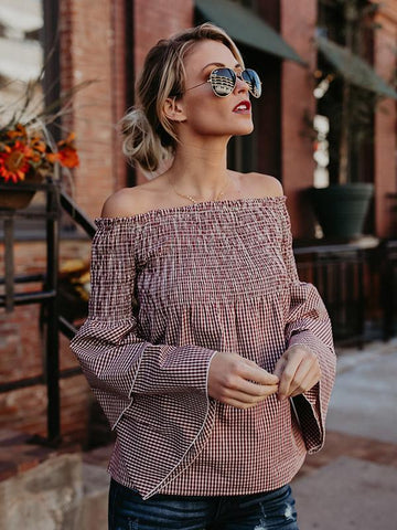 Gorgeous Off-the-shoulder Puff Sleeves Blouses&Shirts Top