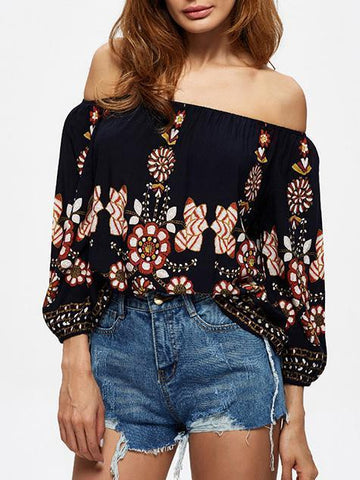 Advanced Off-the-shoulder Blouses&Shirts Tops