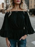 Wonderful Flared Sleeves Blouses&Shirts Top