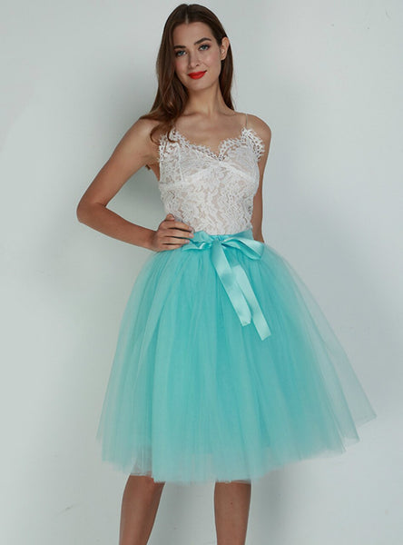 Sky Blue 7 Layers Tulle Tutu Skirt