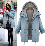 Button Up Denim Jacket And Hooded Vest