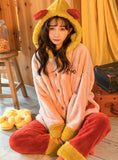 FEMALE CORAL VELVET RED VELVET PADDED SUIT SWEET FLANNEL