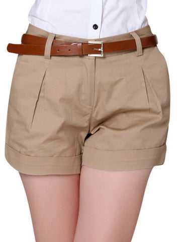 Design Lady Casual Short Trousers Solid