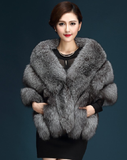 Autumn and winter new fox-like fur shawl, waistcoat, cloak, ladies'pockets