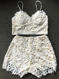 Lace Bralette Top and Shorts