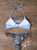 Snakeskin Lattice Bikini Set