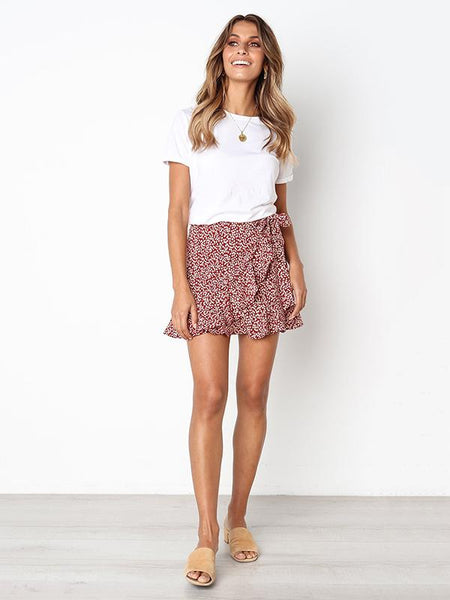 Unique Leopard Sweet Printed Bandage Skirt Bottom